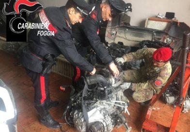 Pezzi di auto rubate in campagna: due arresti