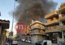 Vasto incendio al Palazzo Lelli | FOTO
