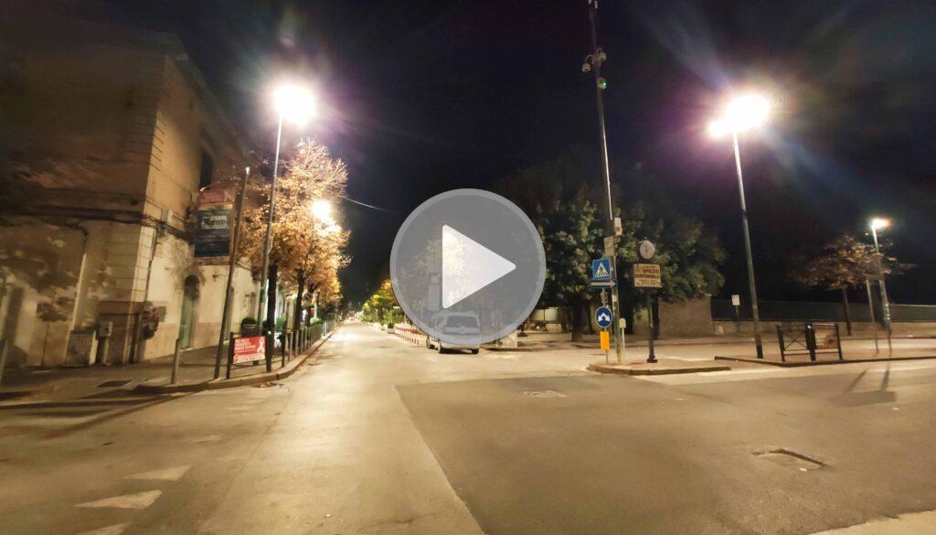 Coprifuoco a Cerignola dopo la mezzanotte: città deserta | VIDEO