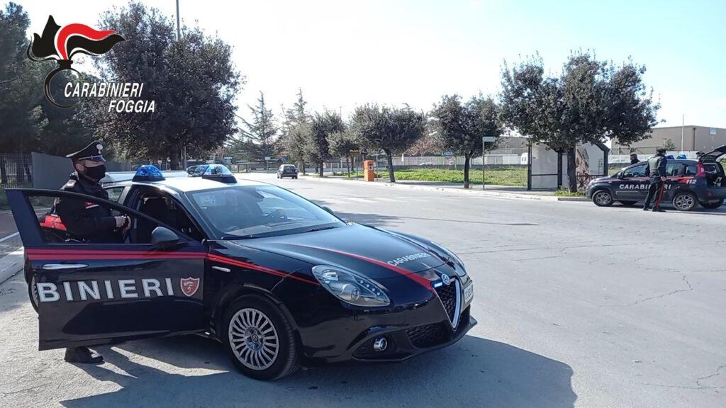 Cerignola, ricettazione di auto rubate: fermate due persone dai carabinieri