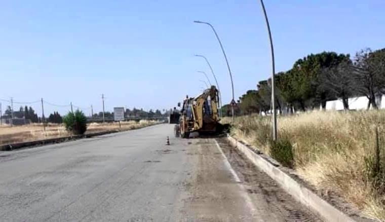 Finalmente iniziano i lavori sulla SP77 Cerignola - Manfredonia (Rivolese)